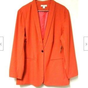 Coldwater Creek Womens Blazer NWT Jacket Orange